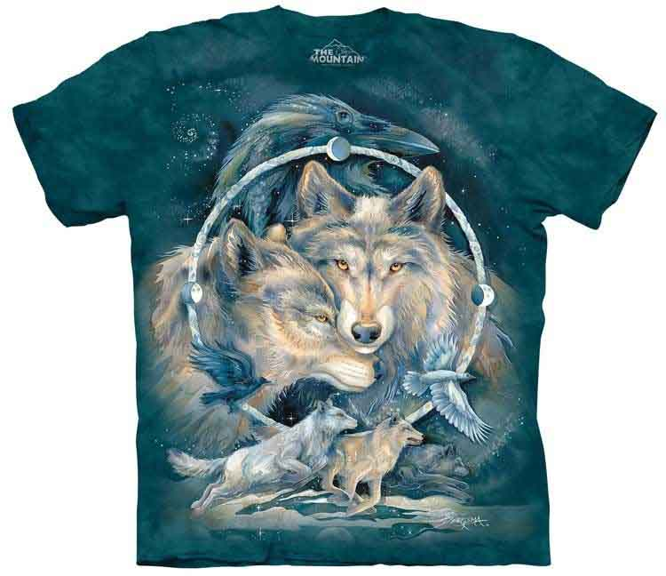 The Mountain Unisex Adult Enchanted Wolf Animal T Shirt