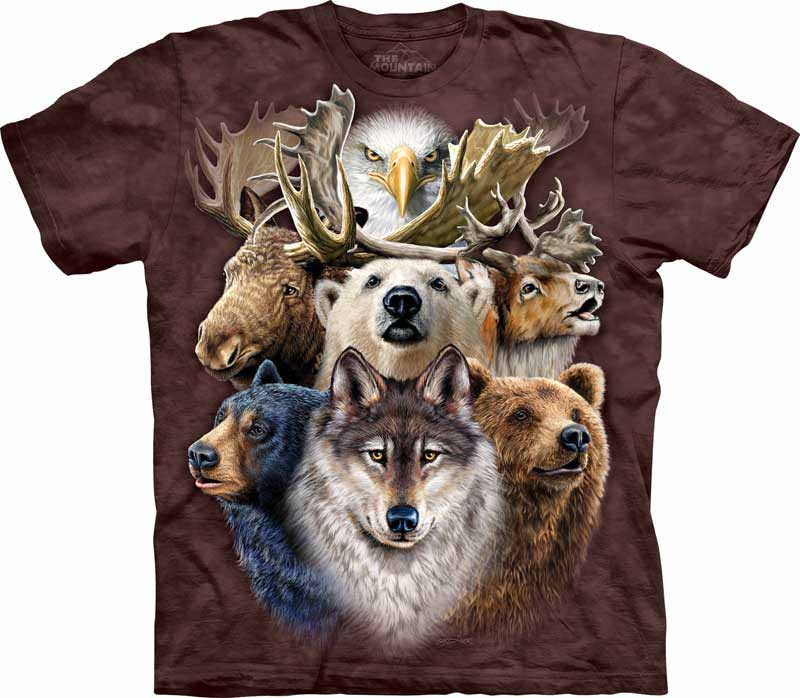 Bear Collage T-Shirt by The Mountain North American Zoo Animals Sizes S-5X NEW